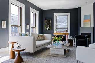 contoh warna cat ruang tamu 2 warna untuk rumah minimalis