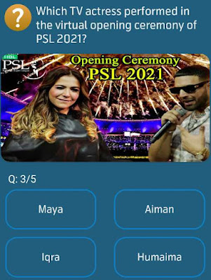 Which TV actress performed in the virtual opening ceremony of PSL 2021?