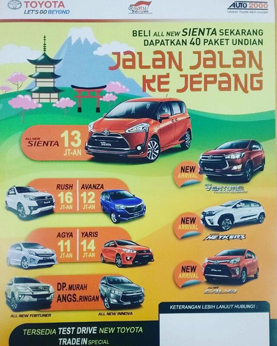 Promo Toyota Cempaka Putih