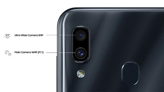 Kamera Utama dan Selfie Samsung A30