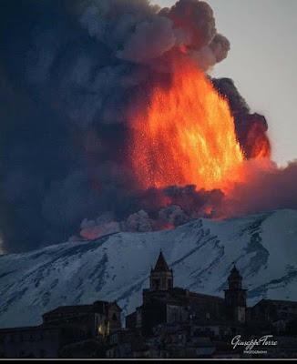Erupción volcán Etna, ferbreo 2021