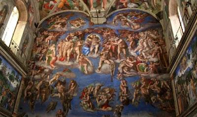 Sistine Chapel ceiling oleh Michelangelo