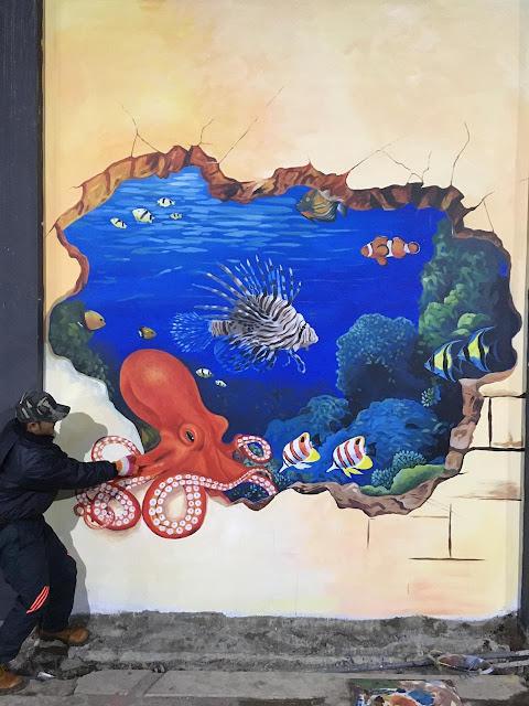 Lukisan Mural Ikan