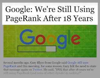 18 tahun Google masih menggunakan PageRank
