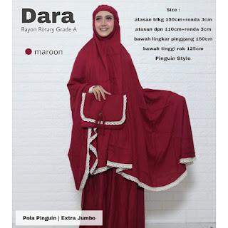 Mukena Dara Extra Jumbo
