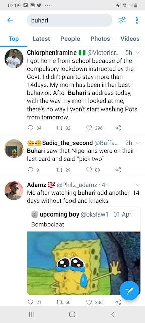Buhari nigeria corona virus lockdown extension