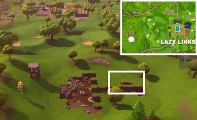 Flaming Hoop Location, Lazy Link, Fortnite BR, Season 5, Week 4