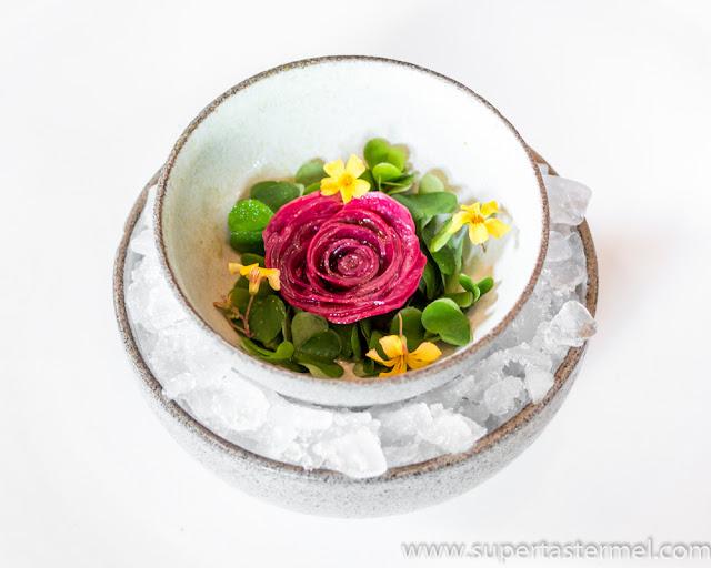 noma rhubard seaweed rose sorrel rose oil