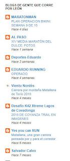 Blogs de corredores populares