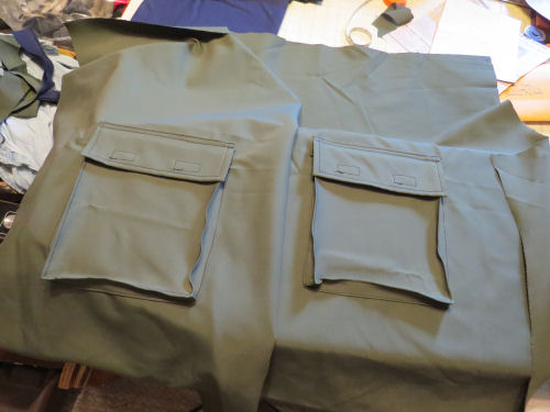 sewing a pair of hiking pants
