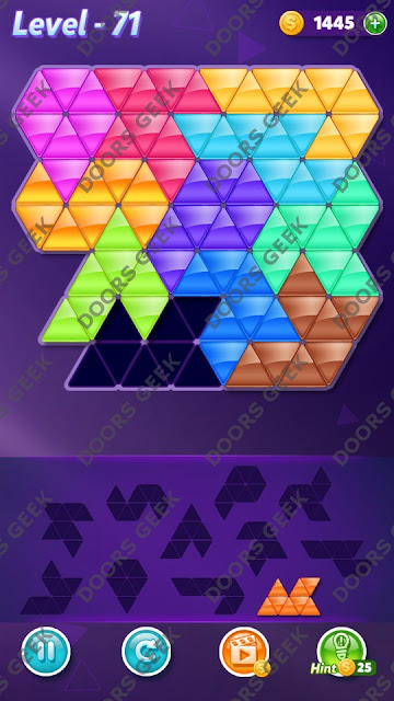 Block! Triangle Puzzle Challenger Level 71 Solution, Cheats, Walkthrough for Android, iPhone, iPad and iPod