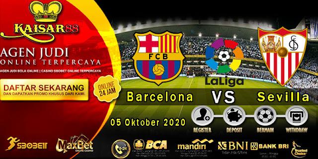 Prediksi Bola Terpercaya Liga Spanyol Barcelona vs Sevilla 5 Oktober 2020