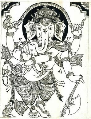 ganesha-drawing-wallpaper