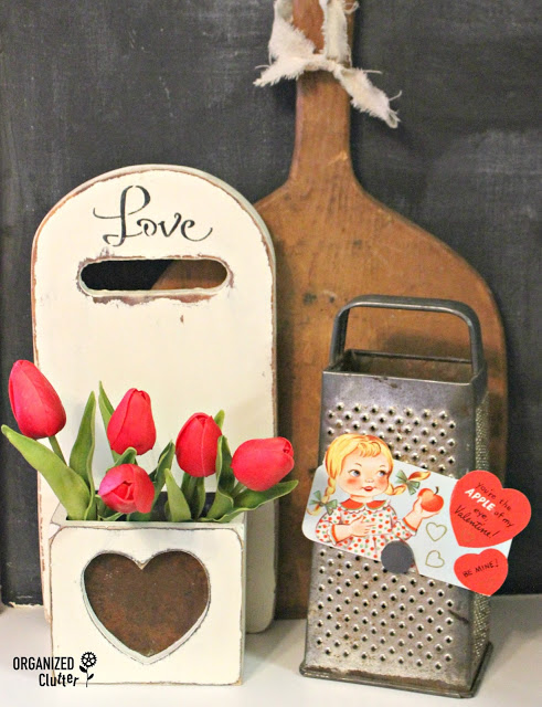 Thrifted Upcycled Valentine's Day Decor