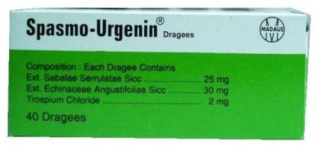 سعر اقراص سبازمو ارجينين Spasmo-Urgenin لعلاج التهابات البروستاتا