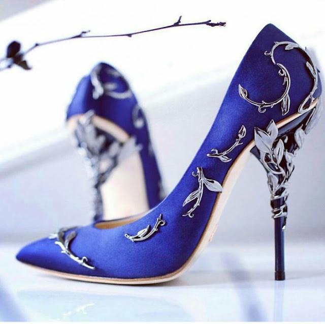 zapatos de novia azul