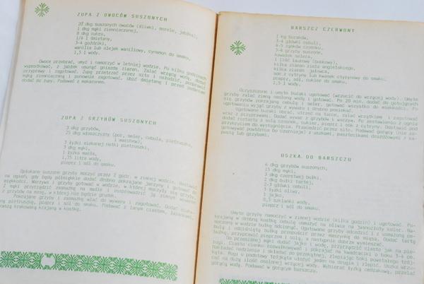 Wnętrze książki, przykładowe przepisy