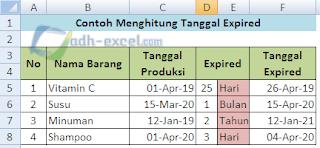 menghitung tanggal kadaluarsa barang