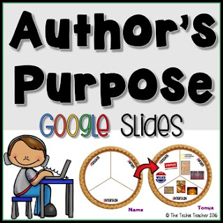 Use Google Slides to make a digital PIE poster to practice author's purpose