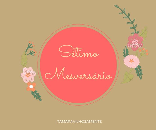 sétimo mesversário - sete meses blog - Tamaravilhosamente