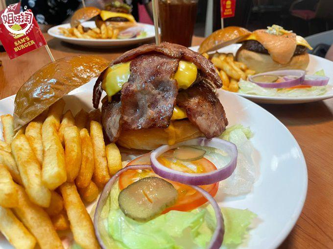 鮮嫩又多汁的手打牛肉漢堡排,來這裡一定要吃的美式餐廳-Sam's Burger