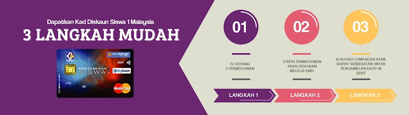 Cara Miliki Kad Diskaun Siswa 1 Malaysia
