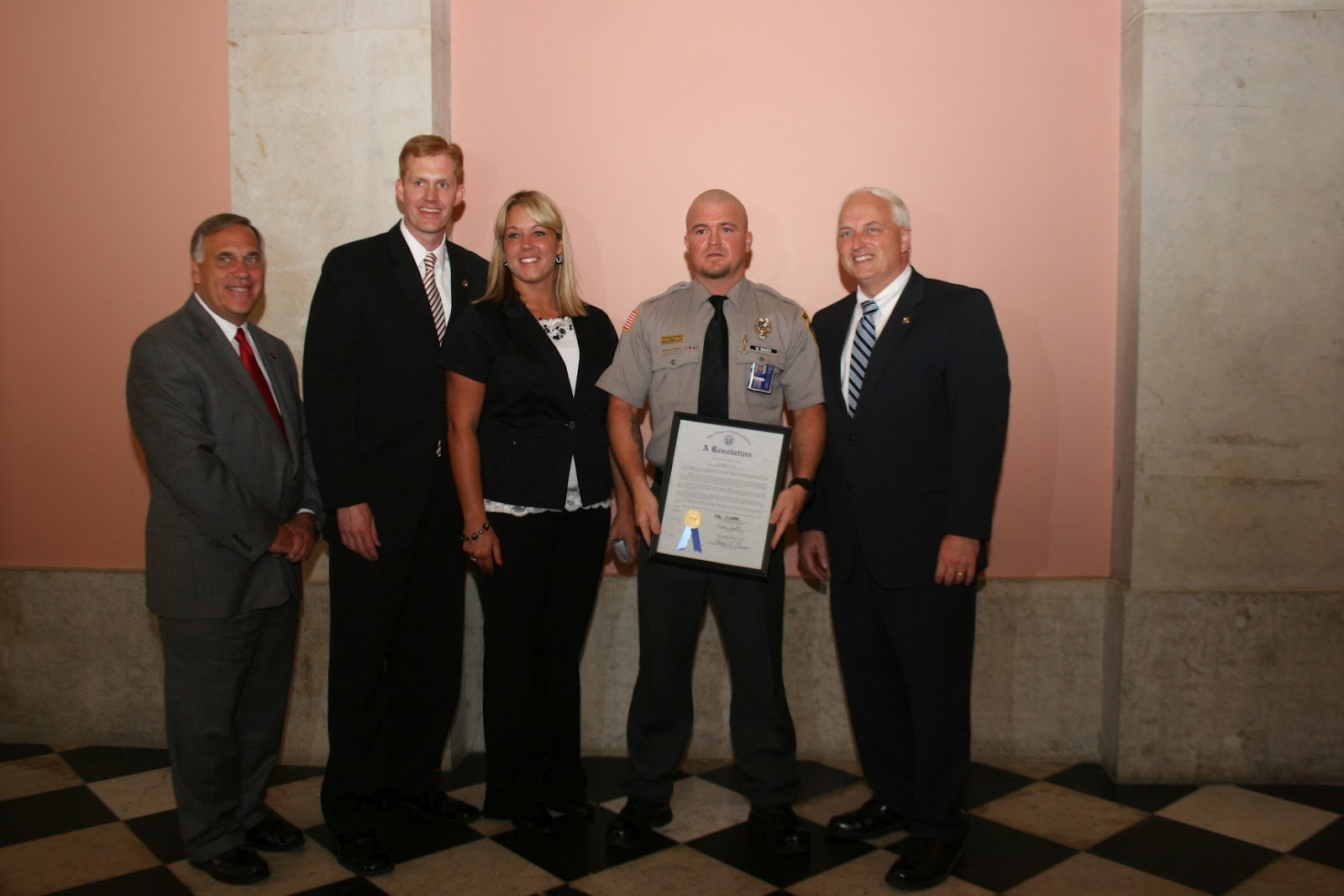 Ohio House GOP: Reps  Johnson and Smith Honor Officer Bauer