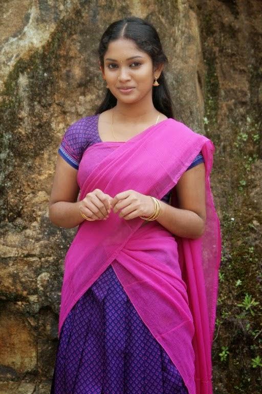 Actress Priyanka Half Saree Photos  Actress Saree Photos -6373