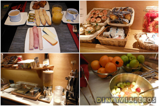 Desayuno del hotel Villa Brunel París