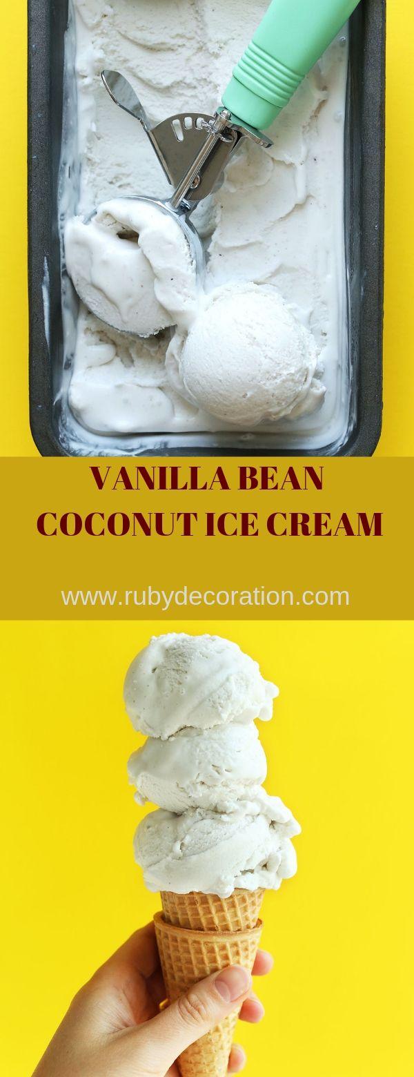 VANILLA BEAN COCONUT ICE CREAM