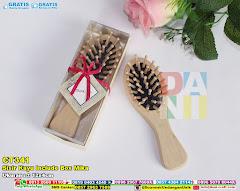 Sisir Kayu Include Box Mika