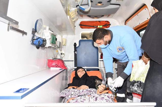 """وفقًا لتوجيهات الرئيس السيسي : نقل سيدة  تعاني من """"شلل نصفي"""" إلى مستشفى الشيخ زايد التخصصي لبدء تلقي العلاج اللازم على نفقة الدولة"""