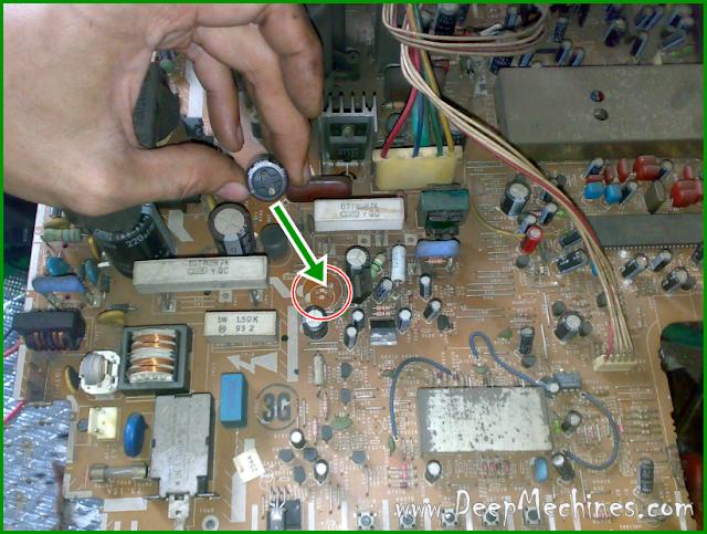 Kerusakan Standby (Komponen Kerusakan) TV SHARP 21-Inch, Model: 21R2