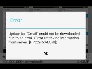 Google Play – Error 8