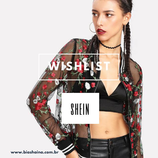 Wishlist de Dezembro da Loja Shein