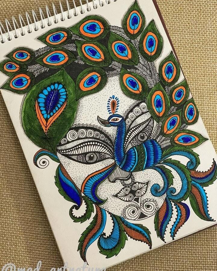 02-Peacock-face-Madhvi-www-designstack-co