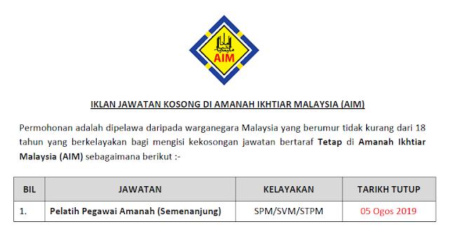 jawatan kosong amanah ikhtiar malaysia