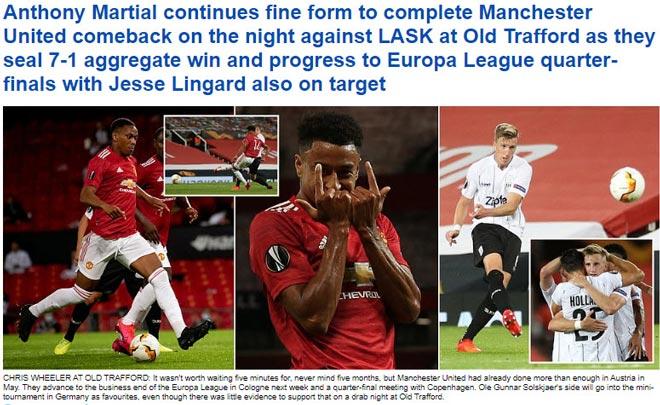 """MU thắng chung cuộc 7-1 tại Europa League: Báo Anh vẫn chê """"cực gắt"""""""