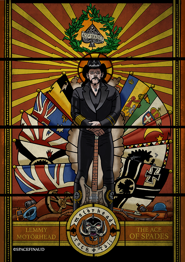 Mon dernier travail sur Lemmy de Motörhead inspiré de l'album 1916. J'ai vraiment été inspiré pour le faire, contrairement à celui de Michael Jackson.