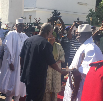 President Buhari  and other Africa Leaders arrived Banjul,