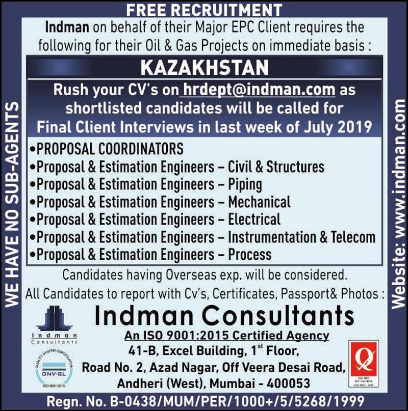 Free Recruitment for Kazakhstan