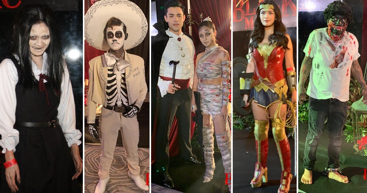 Stars in their coolest, scariest costumes at Black Magic Halloween Party 2019