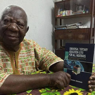 Still writing at 88! Dr. Ngozi Okonjo-Iweala's father displays his latest book