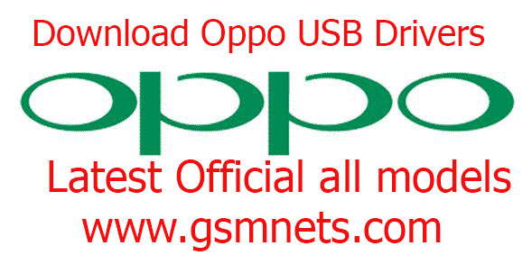 Download Oppo USB Drivers Latest Official all models