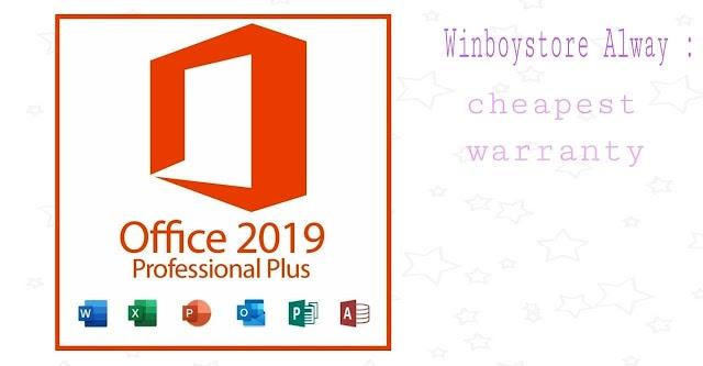Office 2019 Pro Plus 1PC Retail Online Activation