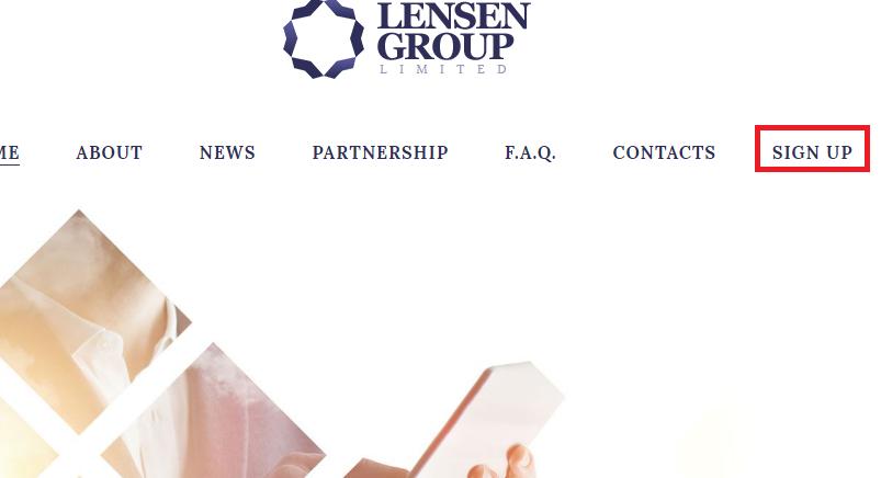 Регистрация в Lensen Group LTD