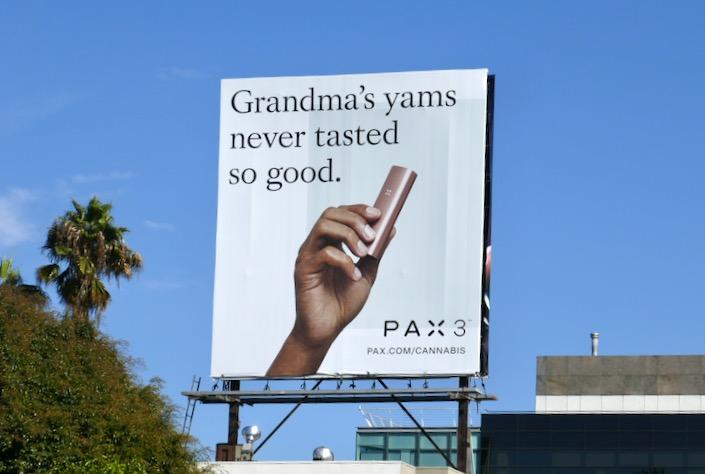 Grandmas yams Pax 3 billboard