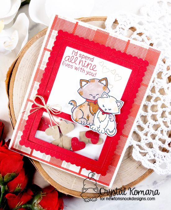 I'd spend all nine lives with you by Crystal features Newton's Sweetheart and Framework by Newton's Nook Designs; #newtonsnook