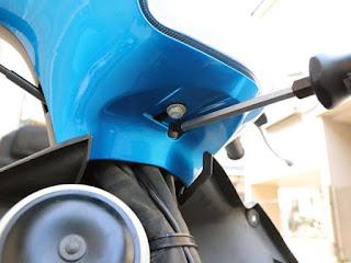 SPHERE LIGHT ミニバイク用LEDヘッドライトバルブ NEOL アドレスV125G取付け