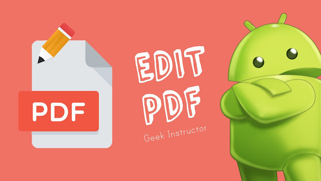 Edit PDF files on Android for free